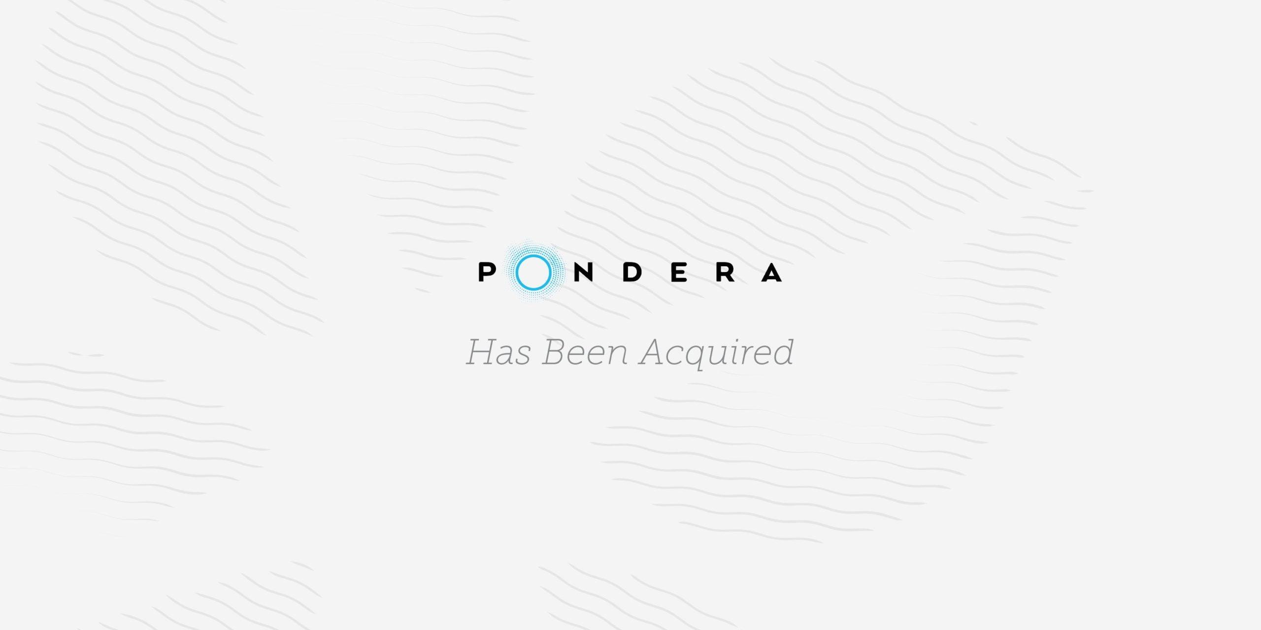 Pondera, a Serent Portfolio Company, Has Been Acquired