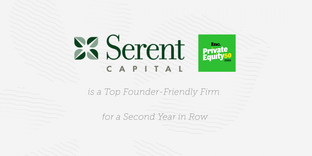 Serent Capital Named a Top Founder-Friendly Firm for a Second Year in a Row
