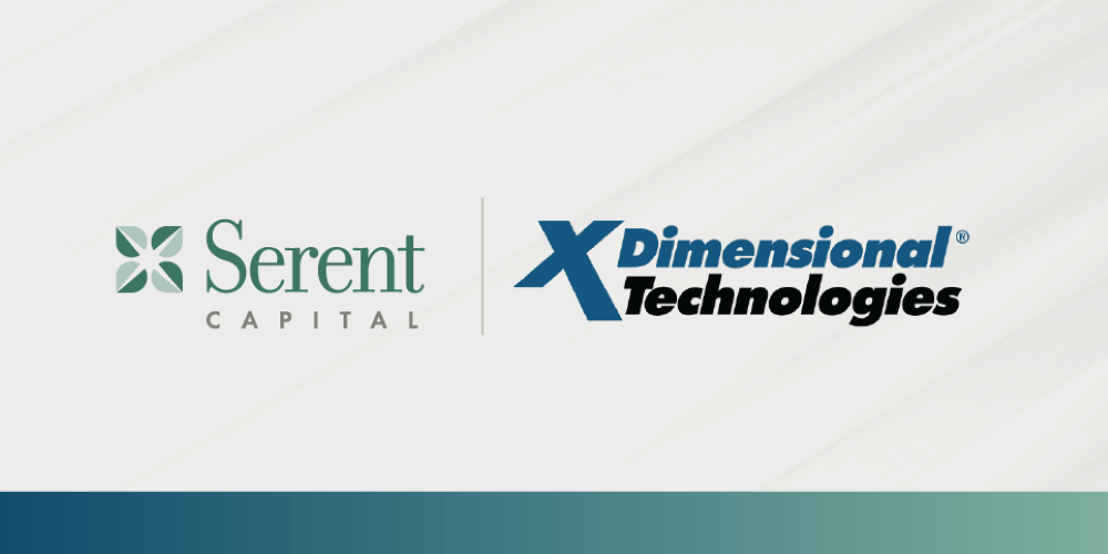 XDimensional Technologies Poised for Accelerated Growth with Investment from Serent Capital